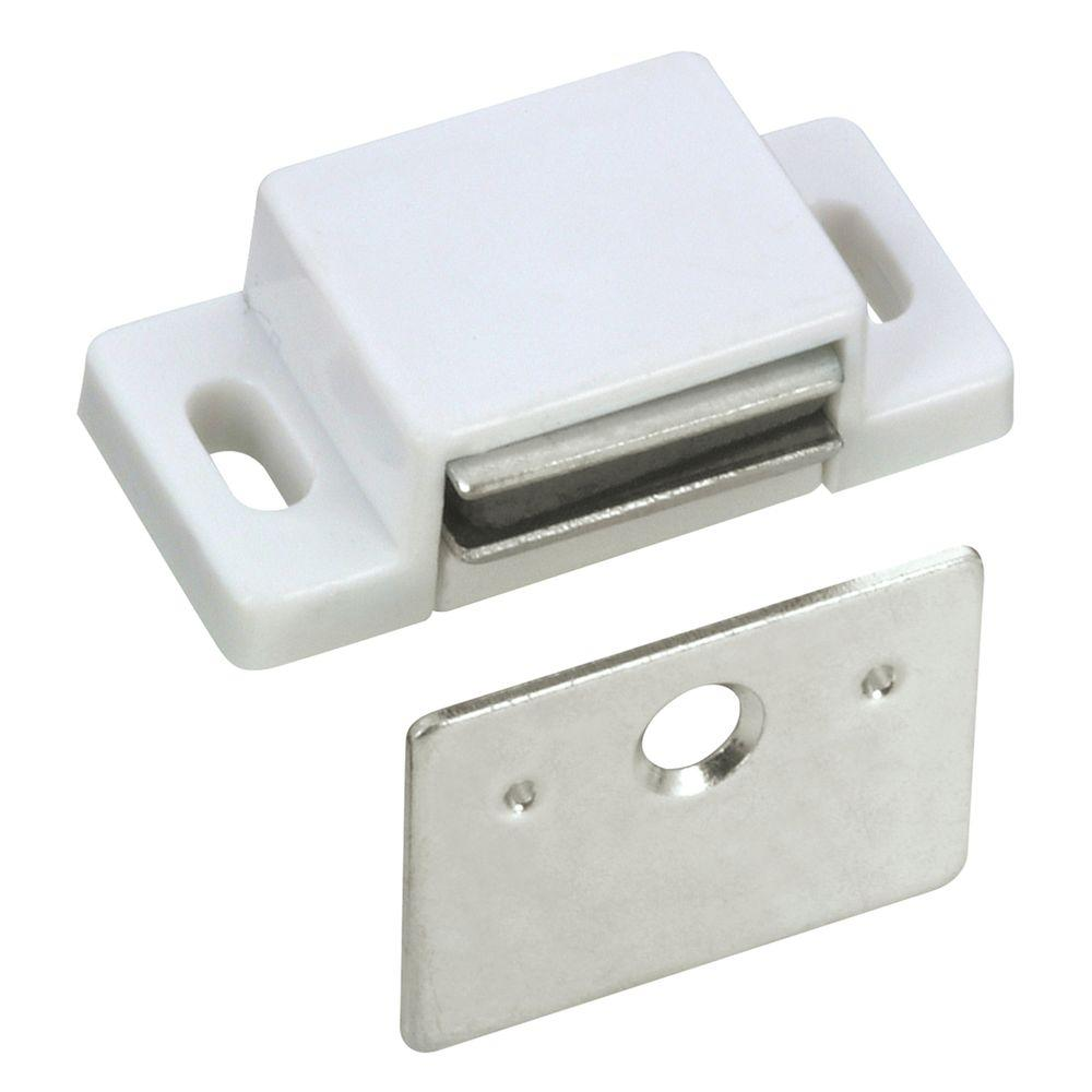 Richelieu Hardware White Magnetic Catch-BP52030 - The Home Depot