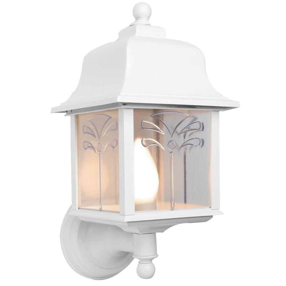 Newport Coastal Palm White Outdoor Wall-Mount Uplight-7972-22W ...