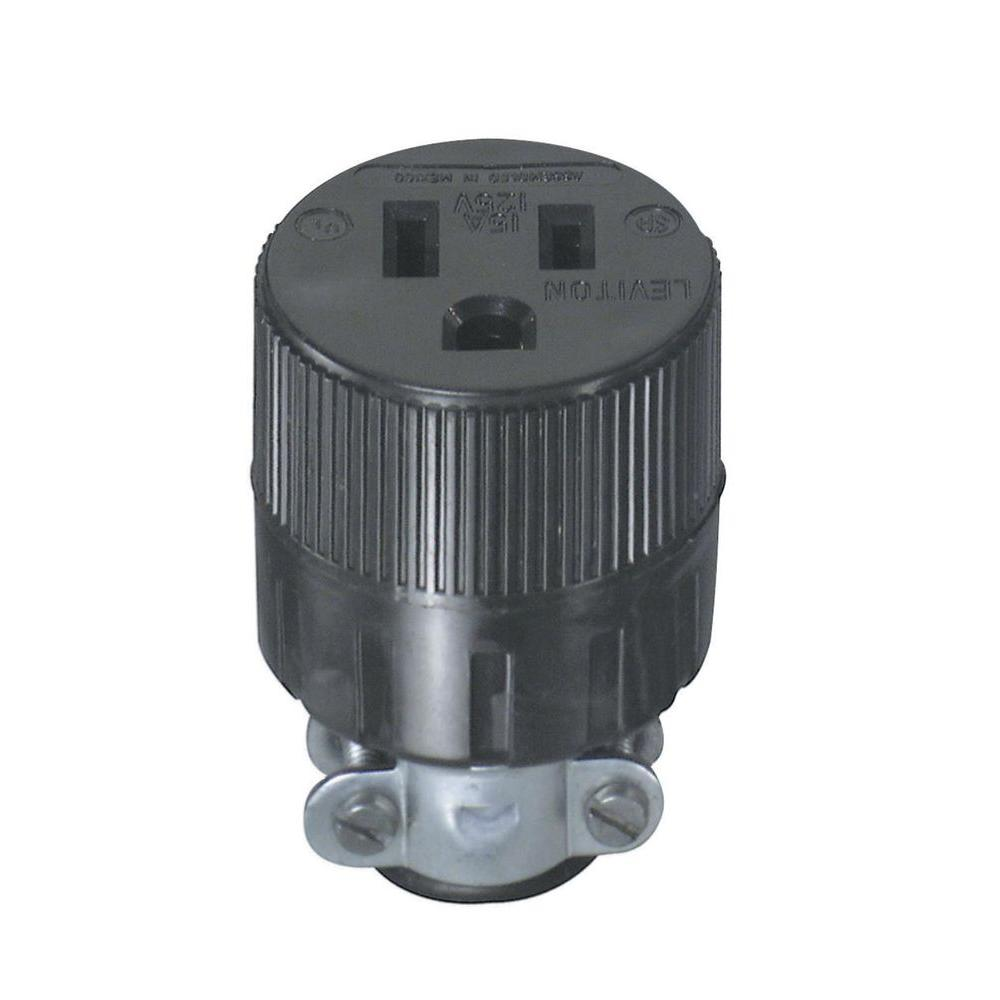 Leviton 15 Amp 125-Volt Double-Pole Round Connector-R50-00617-000 ...