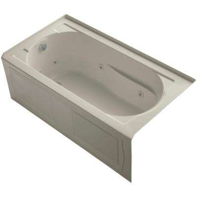 Devonshire 5 ft. Acrylic Left-Hand Drain Farmhouse Rectangular Alcove Apron-Front Whirlpool Bathtub in Sandbar