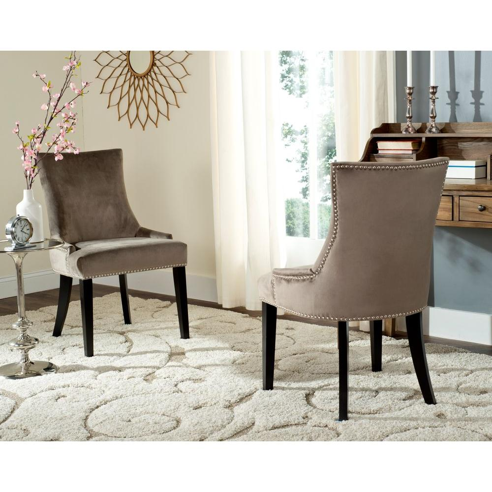 Safavieh lester mushroom cotton dining chair set of 2 mcr4709g set2 the home depot
