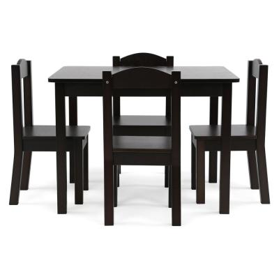 Espresso Collection 5-Piece Espresso Table and Chair Set