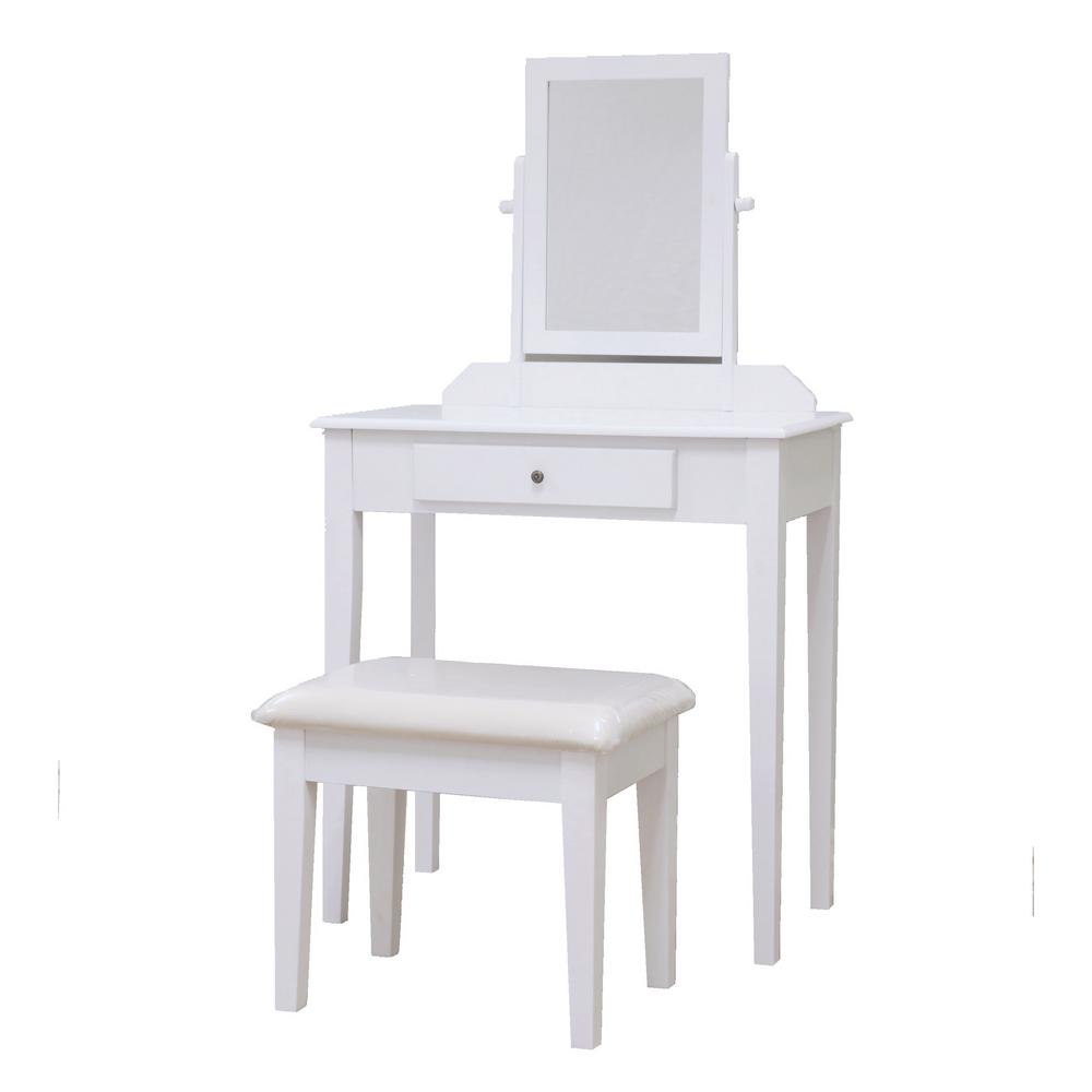 Vanity Set.3 Piece White Vanity Set