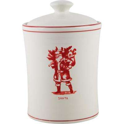 9 in. H Santa Canister with Lid