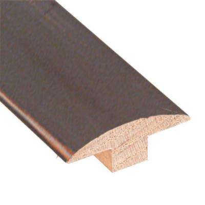 Smoky Mineral/Flax/Natural Fossil 3/4 in. x 2 in. Wide x 78 in. Length Hardwood T-Molding