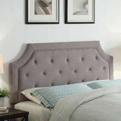 Kelsey Gray Queen Linen Headboard