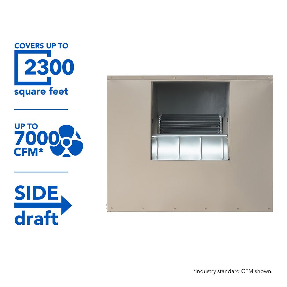 MasterCool 7000 CFM Side-Draft Wall/Roof 8 in. Media Evaporative Cooler for 2300 sq. ft. (Motor Not Included)