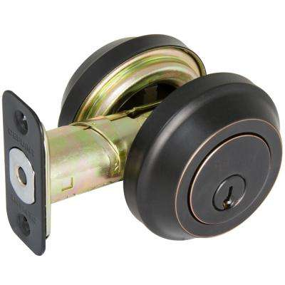 Aged Bronze Low Profile Double Cylinder Deadbolt