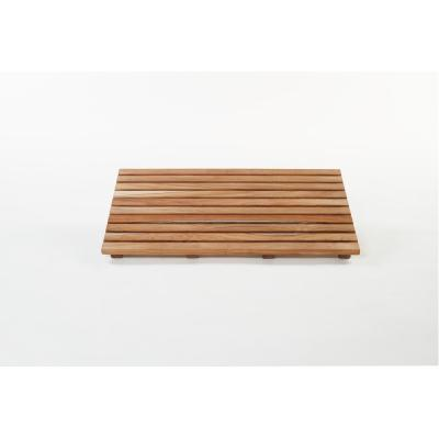 Natural Teak 14 in. x 24 in. Gala Bathroom Shower Mat