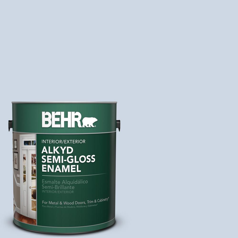 1 gal. #ICC-35 Blue Reflection Semi-Gloss Enamel Alkyd Interior/Exterior Paint