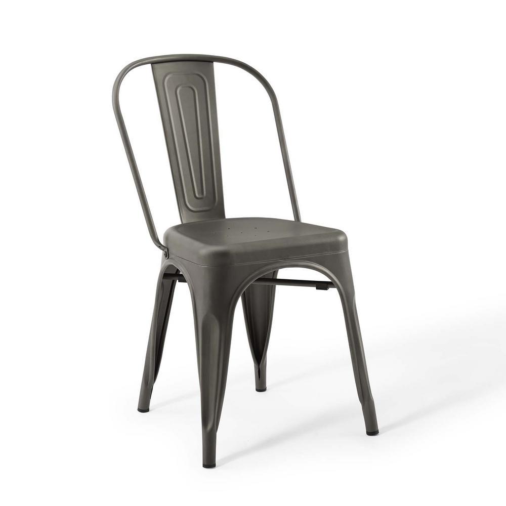 Promenade Bistro Gunmetal Dining Side Chair (Set of 2)