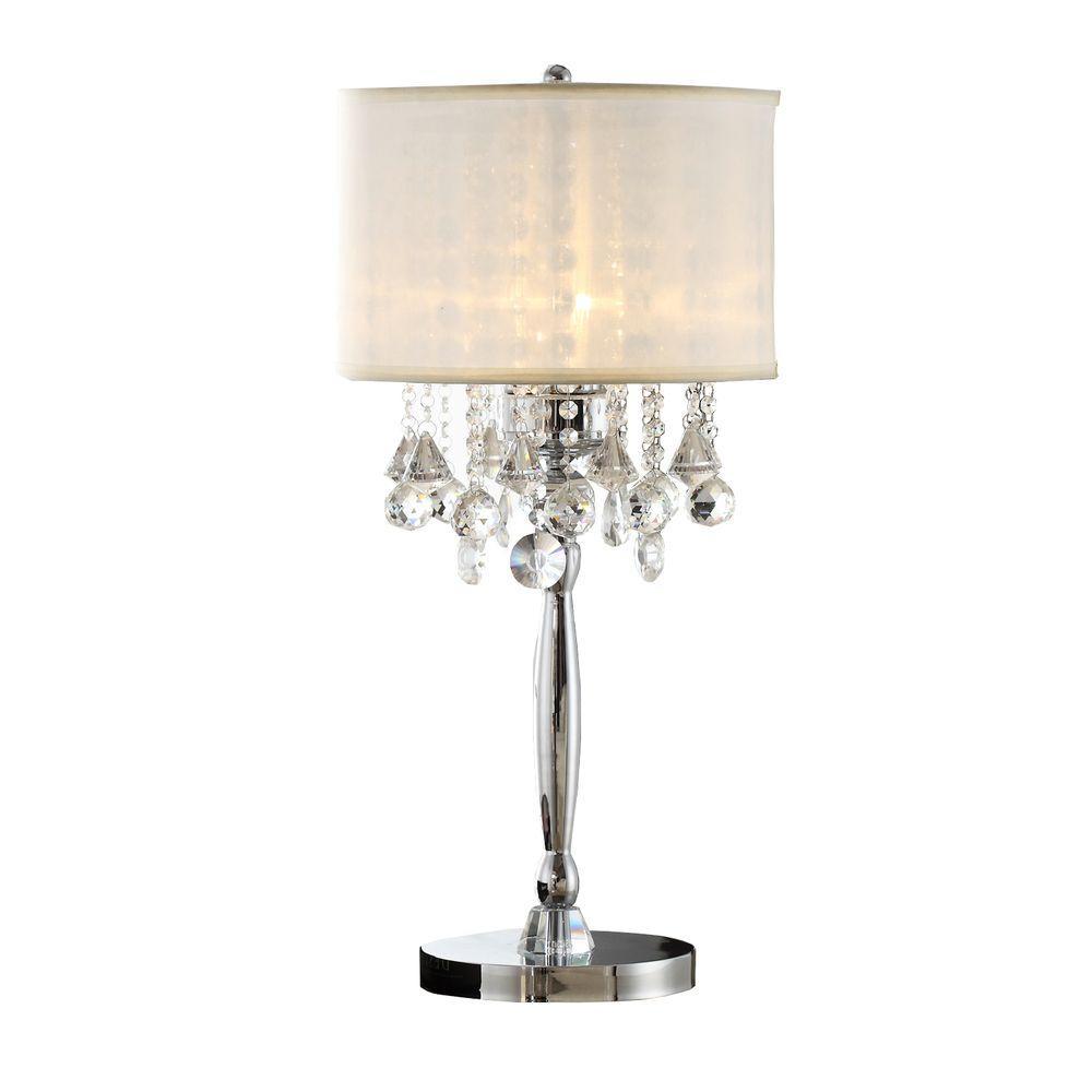 HomeSullivan 29.5 in. Chrome Table Lamp
