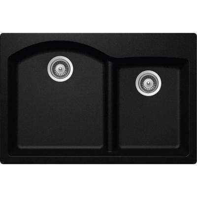 Perfect Elkay By Schock Drop In/Undermount Quartz Composite 33 In. Double Bowl  Kitchen