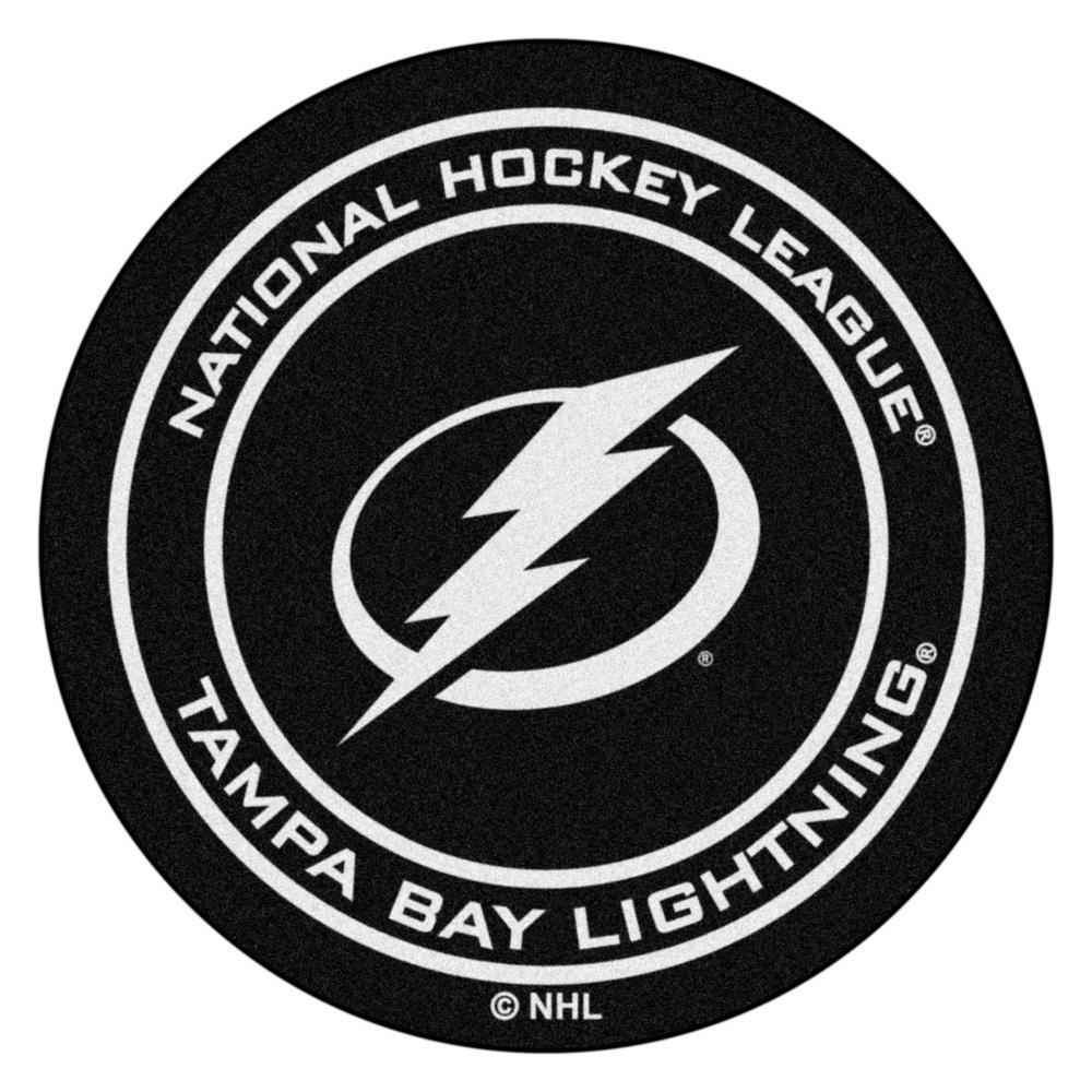 Tampa Bay Lightning Blue 27 in. Round Hockey Puck Mat
