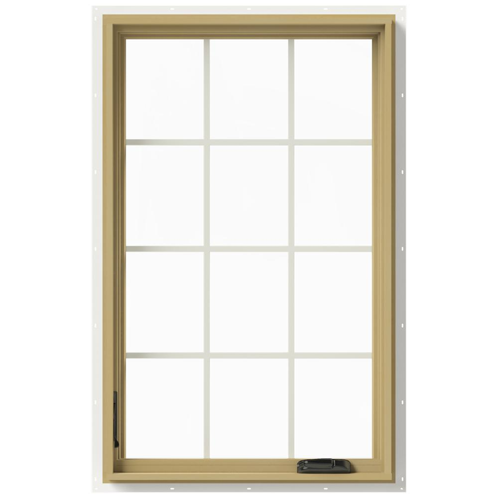 30 in. x 48 in. W-2500 Series White Painted Clad Wood