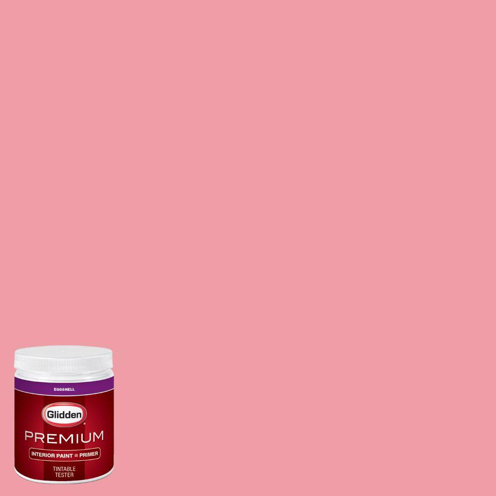 Glidden Premium 8 Oz Hdgr45d Pink Tiger Lily Eggshell Interior Paint With Primer Tester
