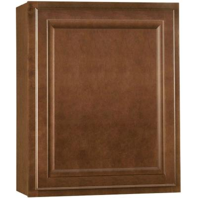 Hampton Assembled 24x30x12 in. Wall Kitchen Cabinet in Cognac