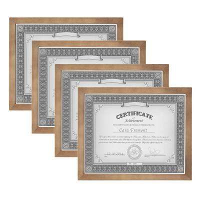Gallery 8.5 in. x 11 in. Rustic Brown Wood Picture Frame (Set of 4)