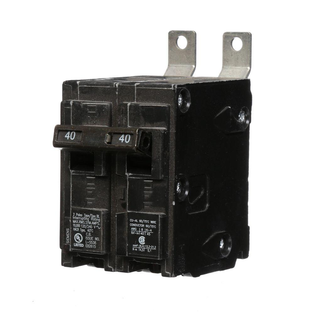 40 Amp Double-Pole Type BL Bolt-On-Circuit Breaker