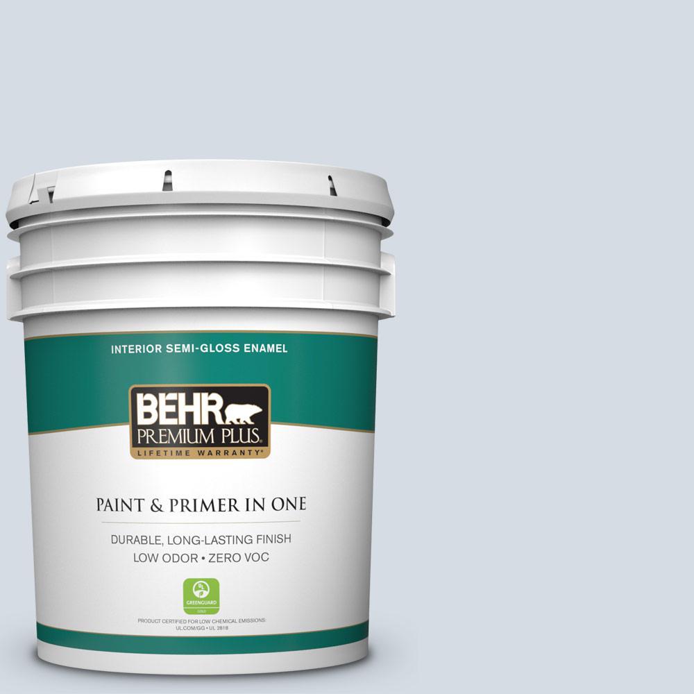 BEHR Premium Plus 5-gal. #PPL-45 Mystic Pool Zero VOC Semi-Gloss Enamel Interior Paint