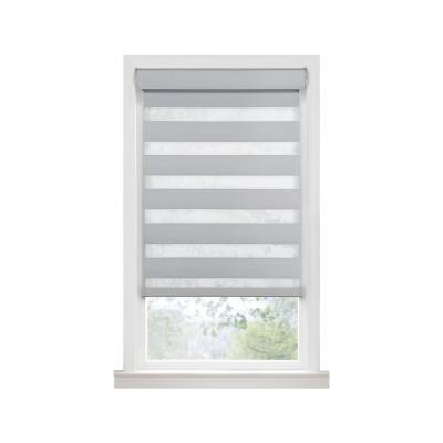 Celestial Oyster Cordless Room Darkening Double Layered Polyester Roller Shade 48 in. W x 72 in. L