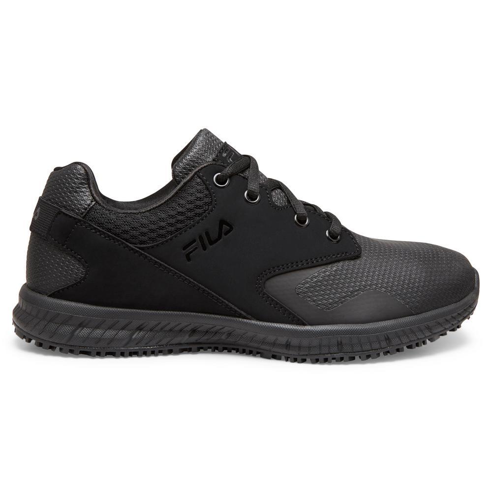 Fila Women's Memory Layers Slip Resistant Athletic Shoes Soft Toe BLACK Size 9.5(M)