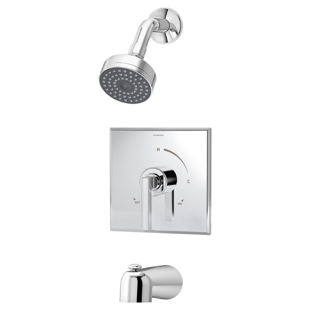 Symmons Duro Single-Handle 1-Spray Tub and Shower Faucet with Stops ...