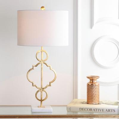 July 31 in. H Gold Leaf Metal Table Lamp