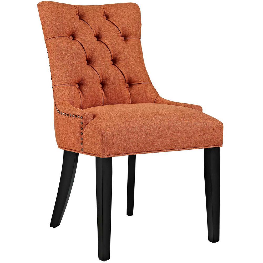 Modway Regent Orange Fabric Dining Chair