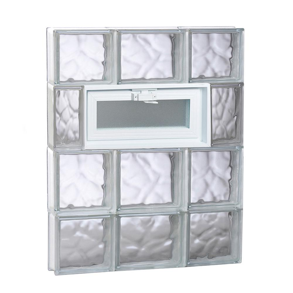 Clearly Secure 19.25 in. x 27 in. x 3.125 in. Frameless Wave Pattern ...