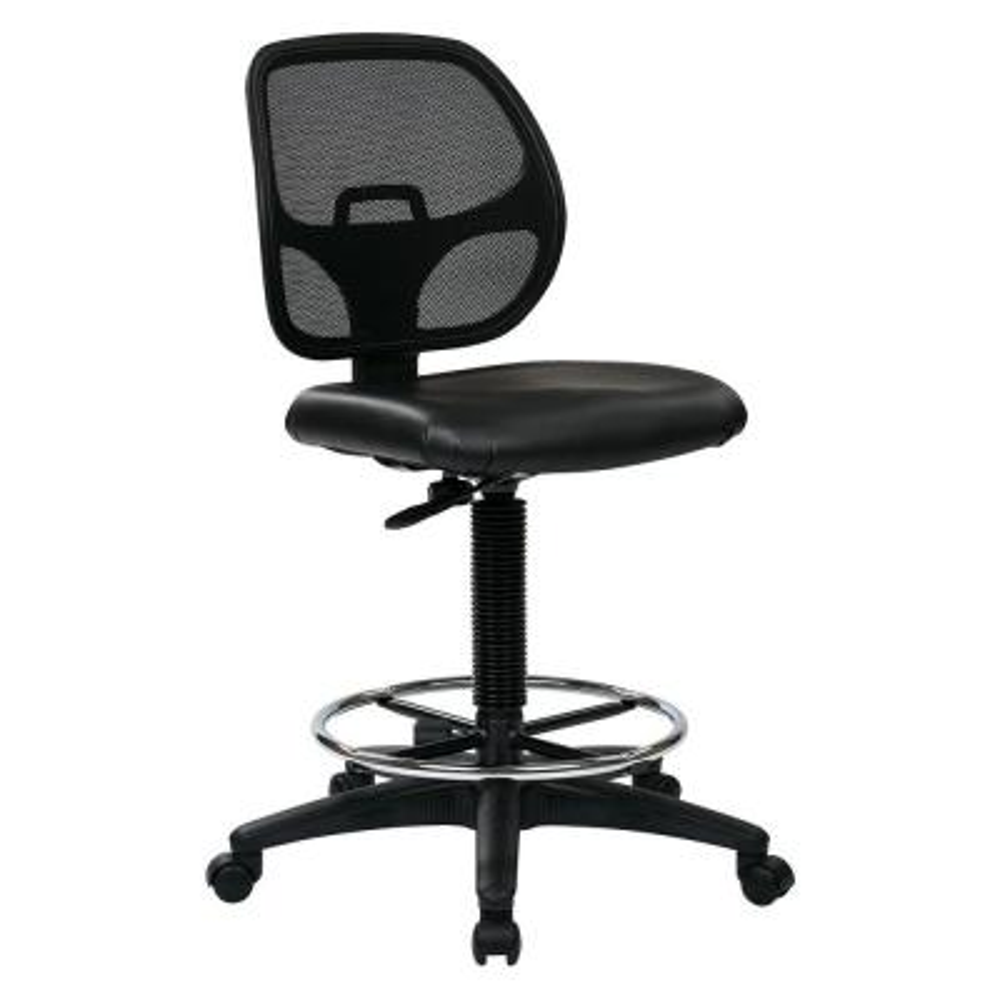 Black Drafting Chair