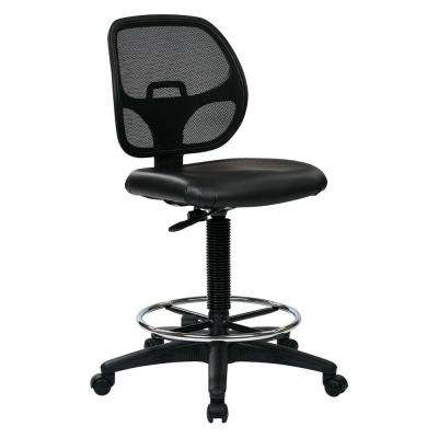 Black Drafting Chair