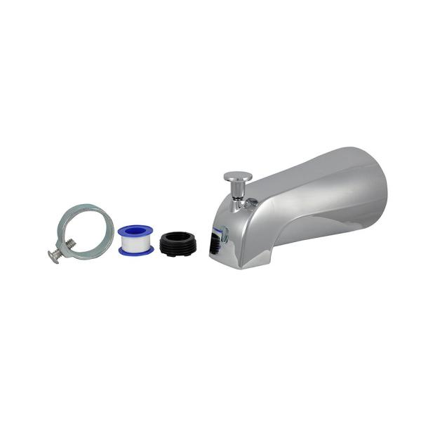 Diverter Tub Spout with Slip Fit and IPS Connection in Chrome