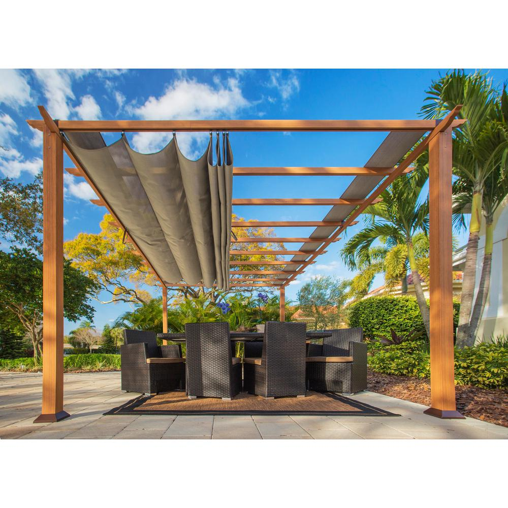 Paragon 11 ft. x 16 ft. Pergola with the Look of Canadian Wood and - Paragon 11 Ft. X 16 Ft. Pergola With The Look Of Canadian Wood And