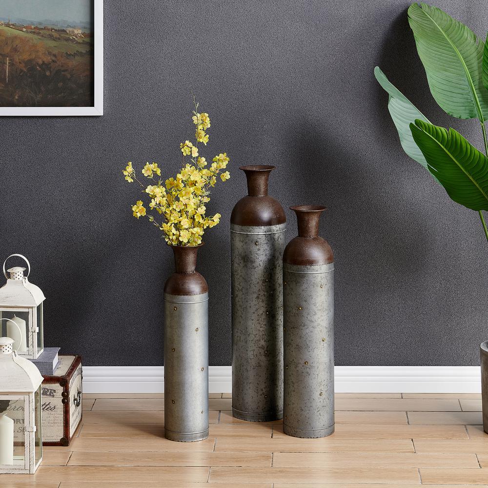 Barnyard Lane Galvanized Vase (Set of 3)