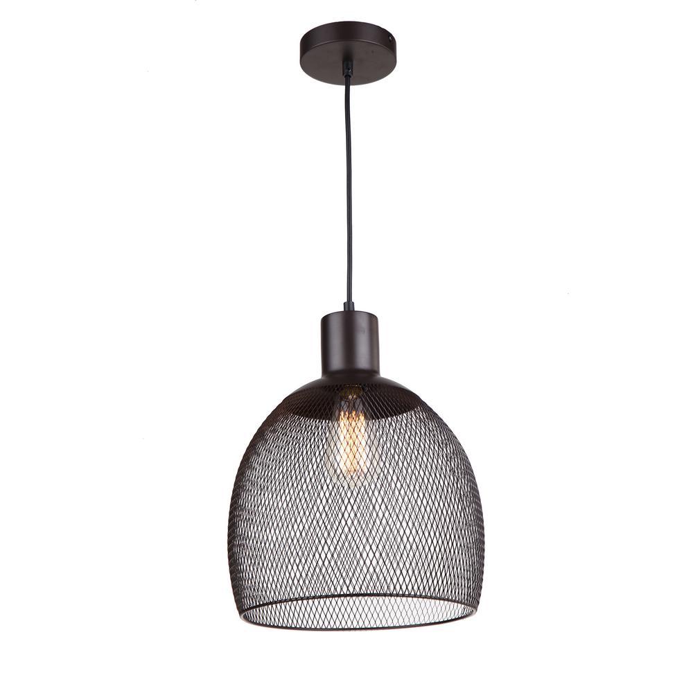 1-Light Dark Grey Pendant