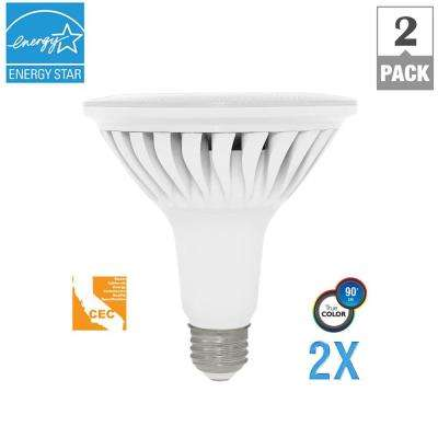 120W Equivalent Soft White PAR38 Dimmable LED CEC-Certified Light Bulb (2-Pack)