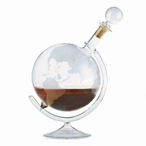Wine Enthusiast 35 oz. Etched Globe Spirits Decanter by Wine Enthusiast