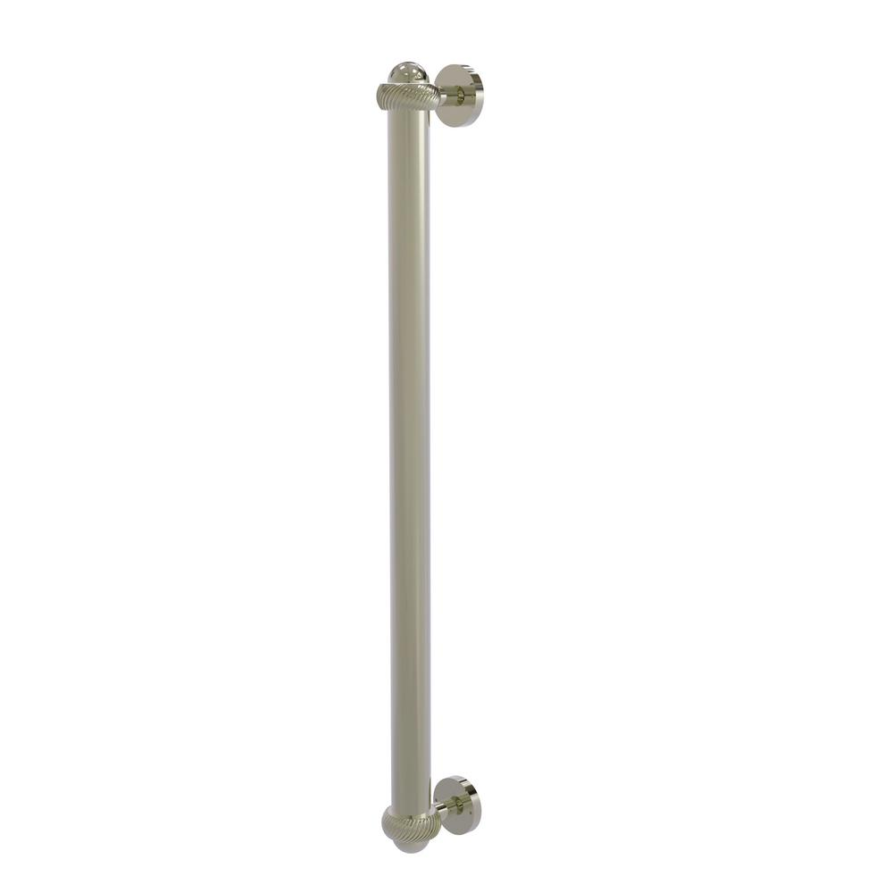 Allied Brass 18 in. Center-to-Center Refrigerator Pull with Twisted Aents in Polished Nickel Transform your kitchen with this elegant Refrigerator and Appliance Pull. This pull is designed for replacing the pulls or handles on your built-in refrigerator, freezer or any other built in appliance. Appliance pull is made of solid brass and provided with a lifetime finish to insure products will provide a lifetime of service.