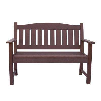 Huntington Recycled Plastic Outdoor Bench - Chateau Brown