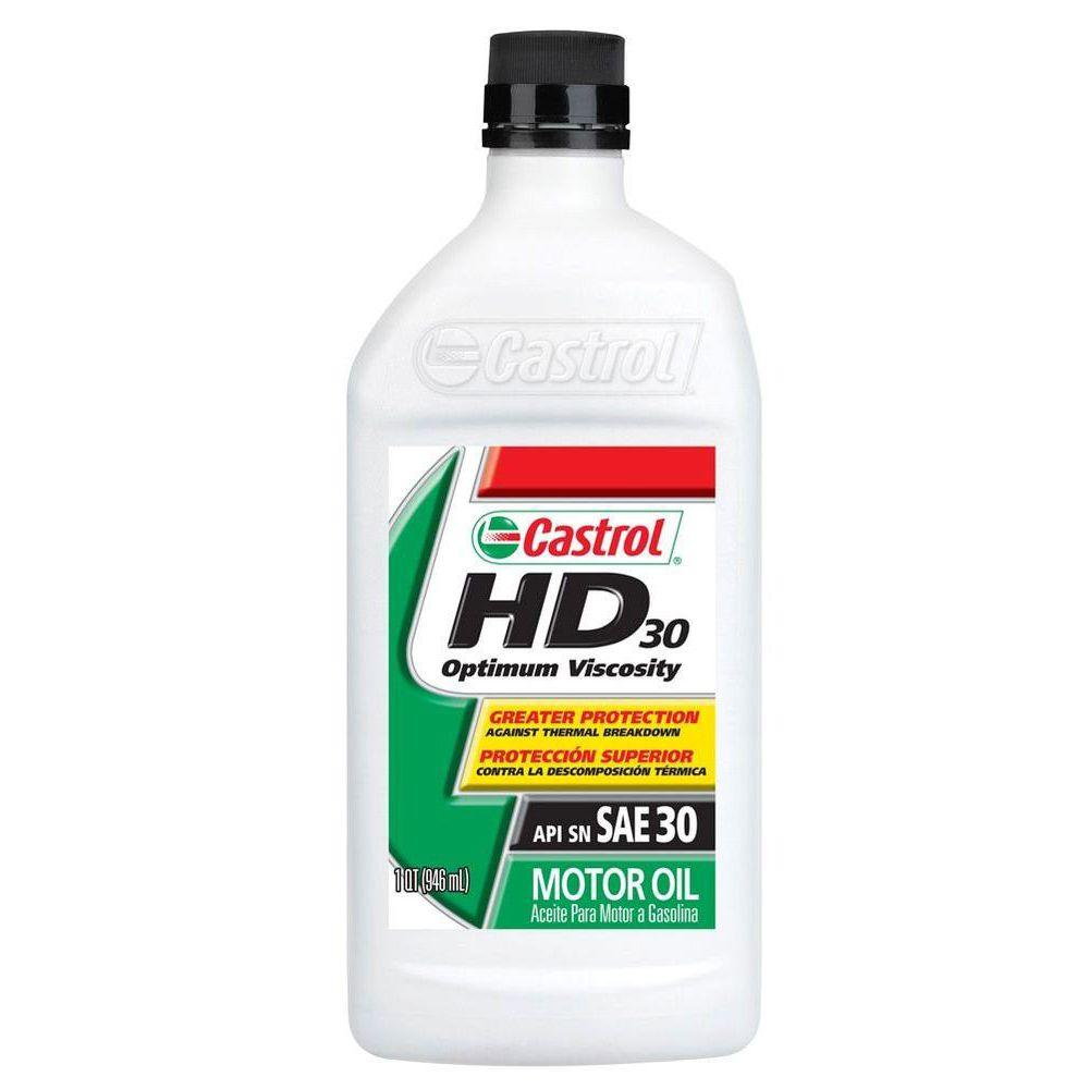Castrol 32 Oz Heavy Duty Motor Oil 151b00 The Home Depot
