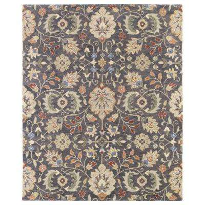 Helena Hera Pewter 9 ft. x 12 ft. Area Rug
