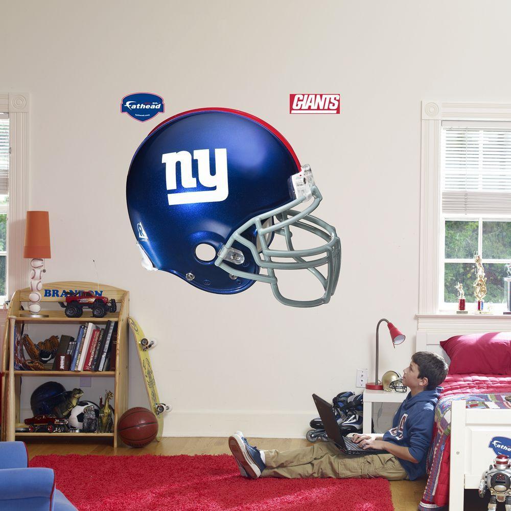 Fathead 57 in. x 51 in. New York Giants Helmet Wall Decal