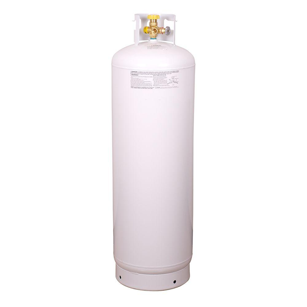100 Lb Empty Steel Propane Cylinder With Multi Valve