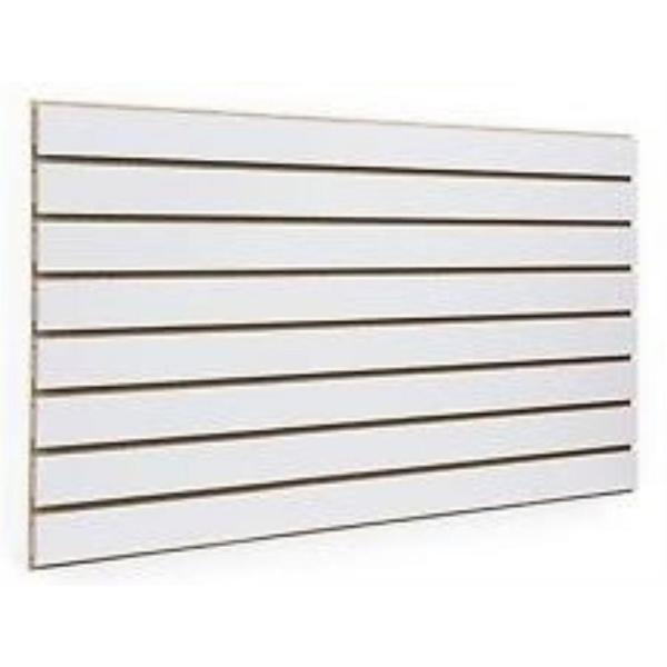 24 in. H x 48 in. L White Slatwall Panels (Set of 2 Panels)