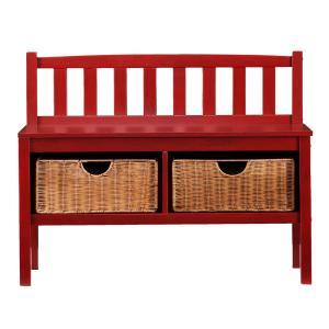 Incredible Southern Enterprises Hubert Red Storage Bench Hd862170 The Alphanode Cool Chair Designs And Ideas Alphanodeonline
