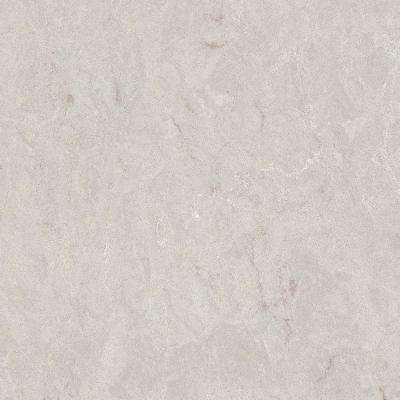 4 in. x 4 in. Quartz Countertop Sample in Bianco Drift