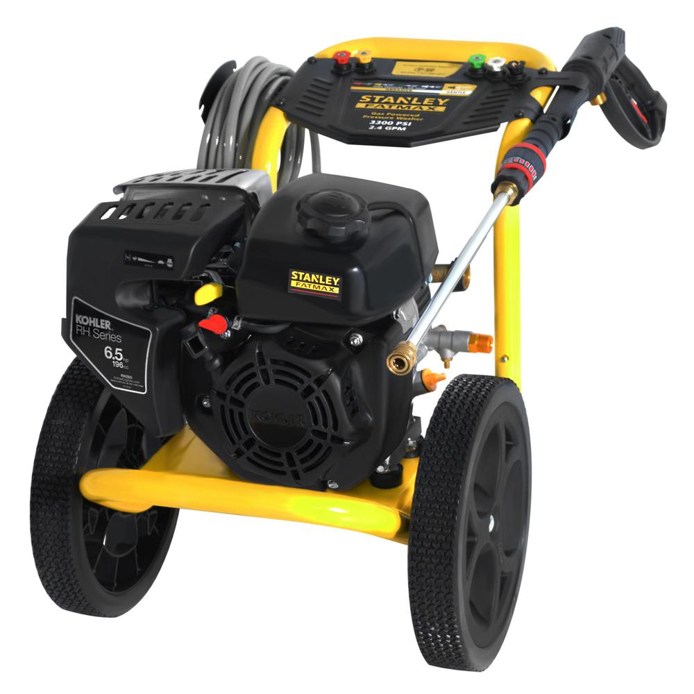 Stanley Fatmax 3300 Psi 2 4 Gpm Gas Pressure Washer
