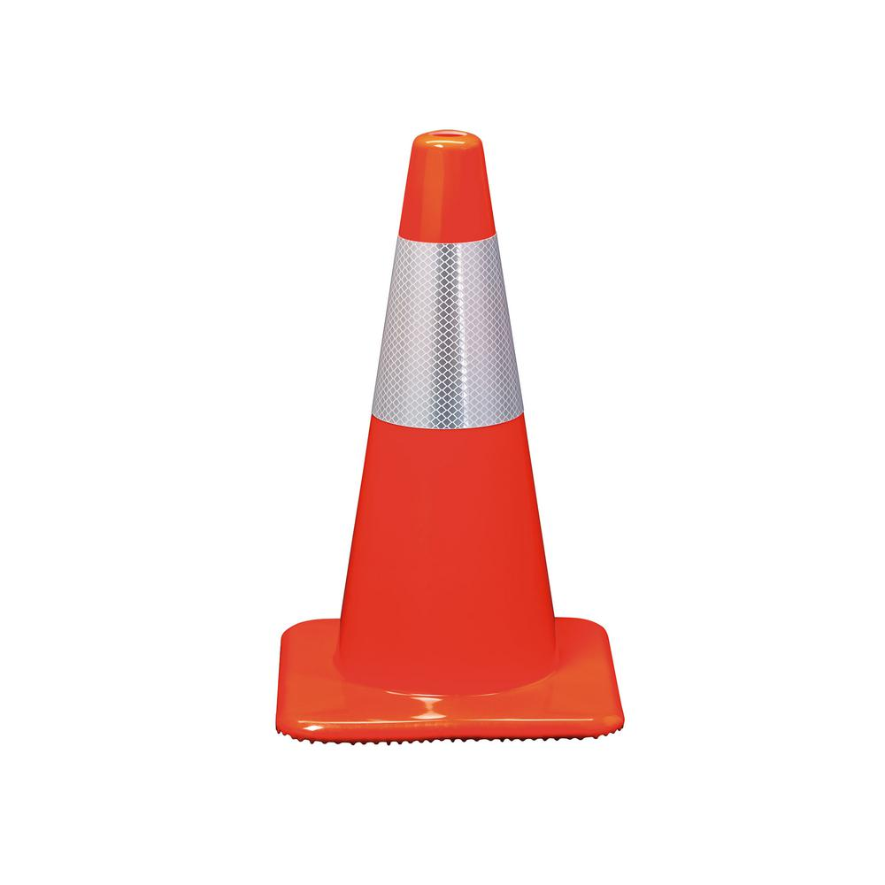 3M 18 in. Orange Reflective Traffic Safety Cone (Case of 10)