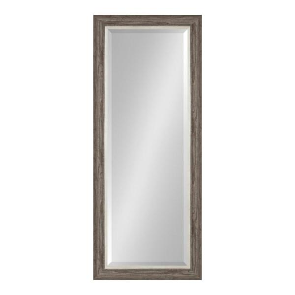 Large Rectangle Gray Beveled Glass American Colonial Mirror (53.5 in. H x 21.5 in. W)
